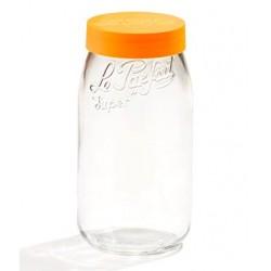 Bocal en verre à couvercle