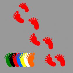 10 Adhésifs pieds enfants...