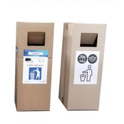 10 Poubelles carton jetable...